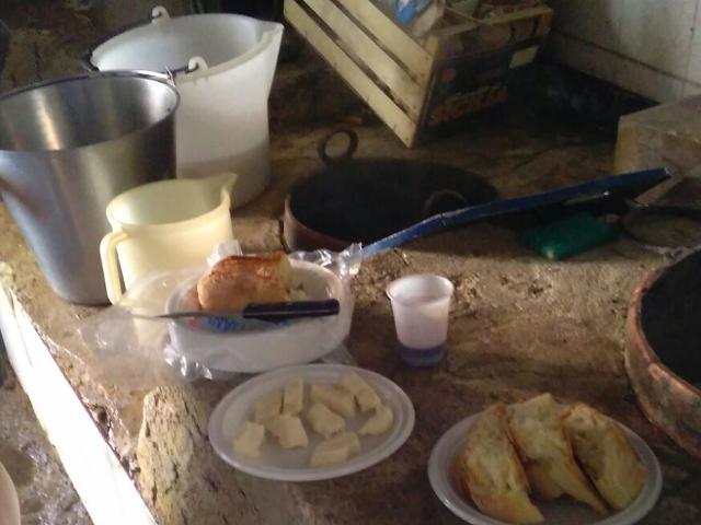 Degustazione di pane e formaggio