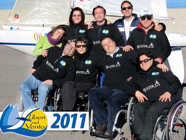 foto di gruppo dell'associazione liberi nel vento