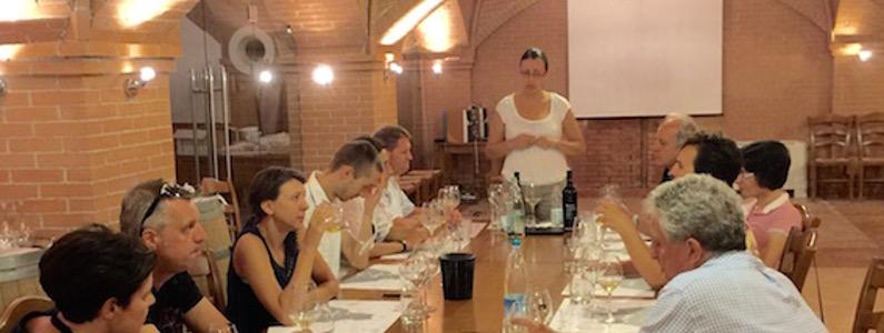 Lezione di degustazione del vino