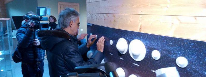 Andrea Bocelli visita l'Osservatorio polifunzionale del Chianti