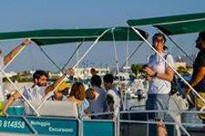 A bordo dell'imbarcazione Euphoria
