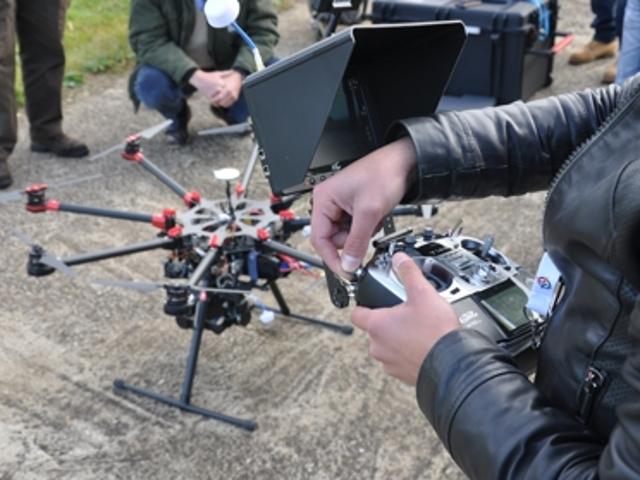 Drone in partenza