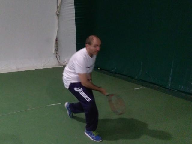 Giocatore non vedente durante un allenamento