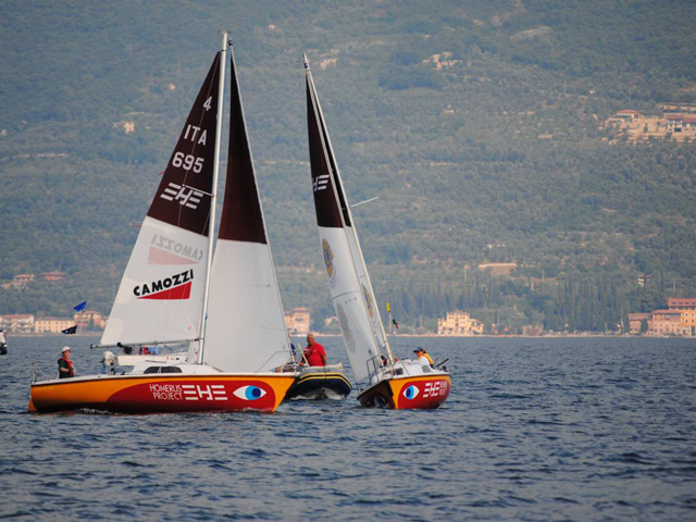 Le barche Homerus Project durante una regata