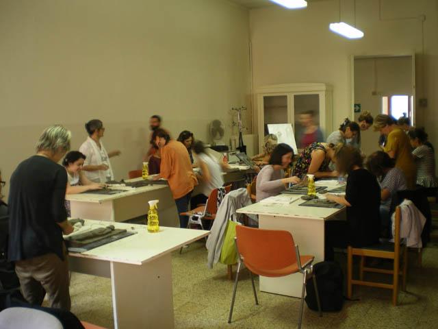 Uno dei laboratori organizzati