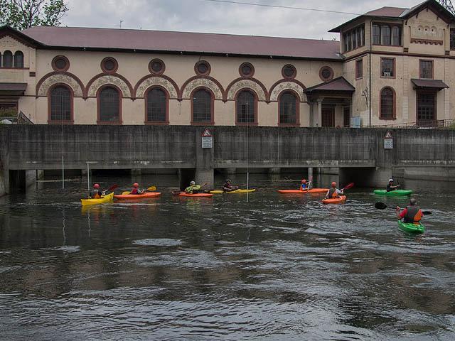 Escursione in canoa alla centrale Ludovico il Moro
