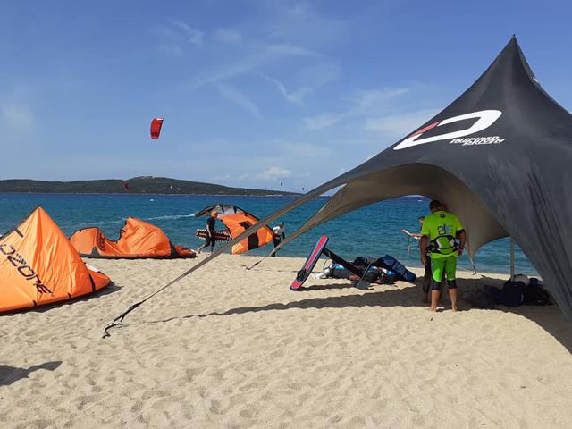 Punto di ritrovo in spiaggia dell'Associazione
