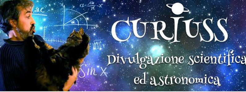 L'esperto Alan Zamboni con il suo gatto su uno sfondo stellare