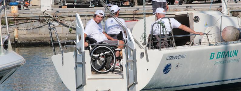 Il velista Marco Rossato e la barca a vela Tornavento